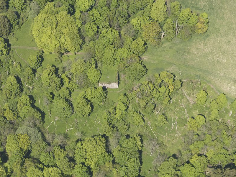 Oblique aerial view of Craighall Castle, taken from the S.