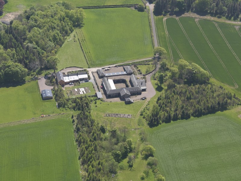 Oblique aerial view of Greenside Steading, taken from the N.
