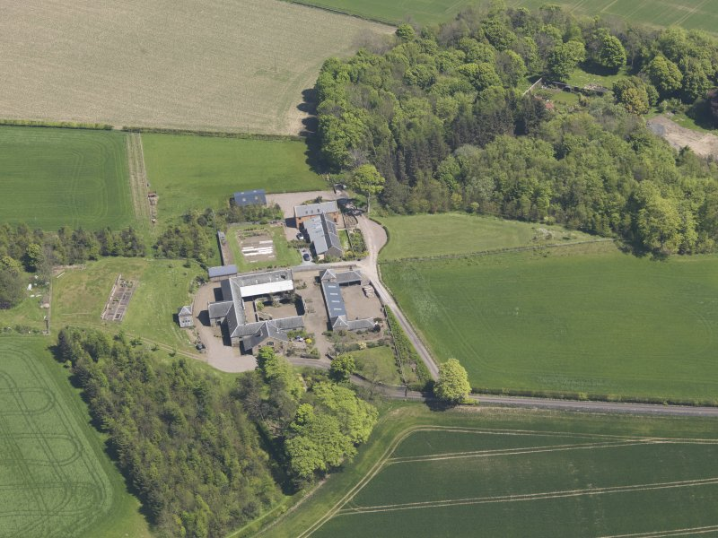 Oblique aerial view of Greenside Steading, taken from the WSW.