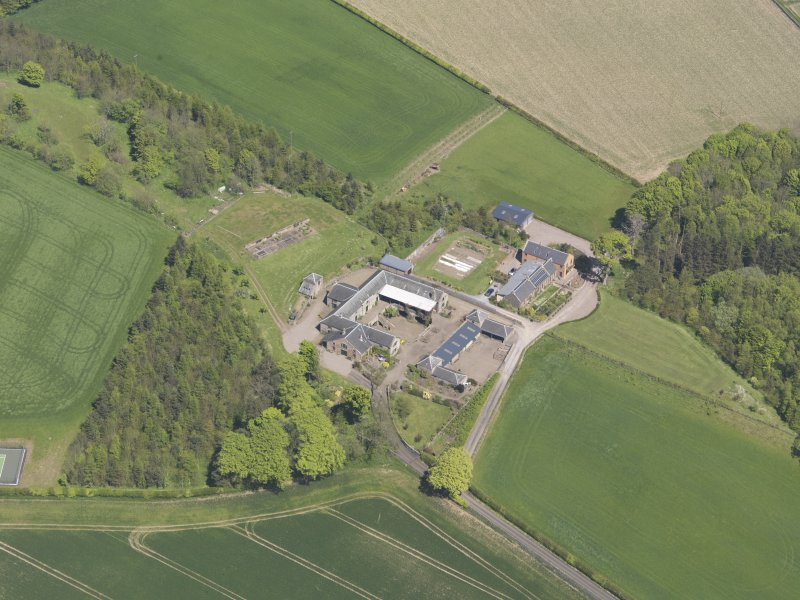 Oblique aerial view of Greenside Steading, taken from the SW.