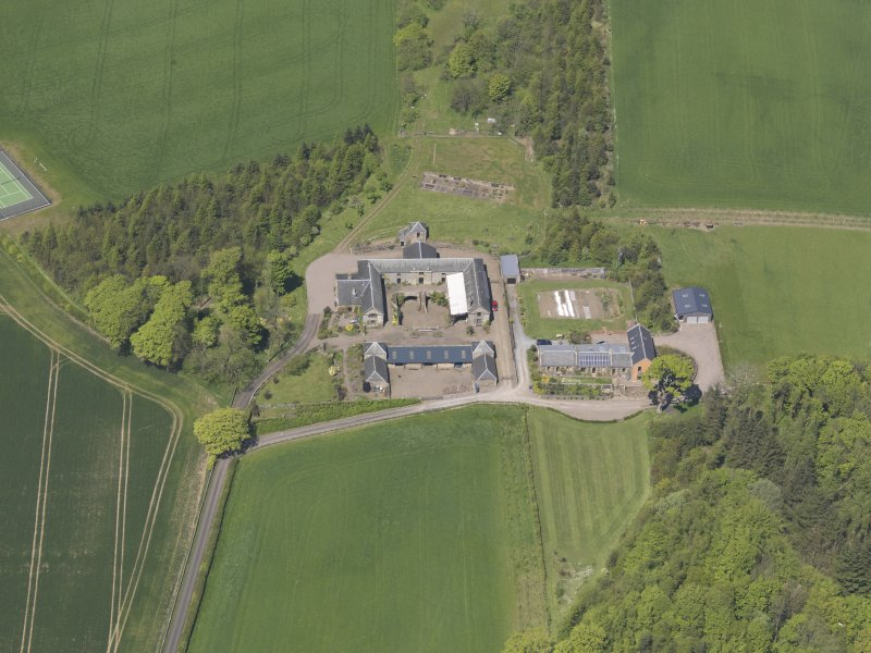Oblique aerial view of Greenside Steading, taken from the SSE.