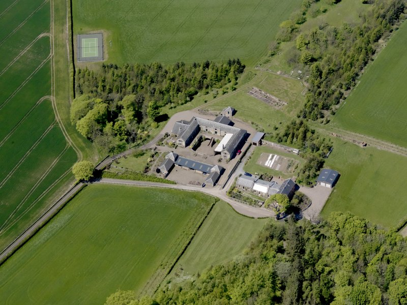 Oblique aerial view of Greenside Steading, taken from the SE.