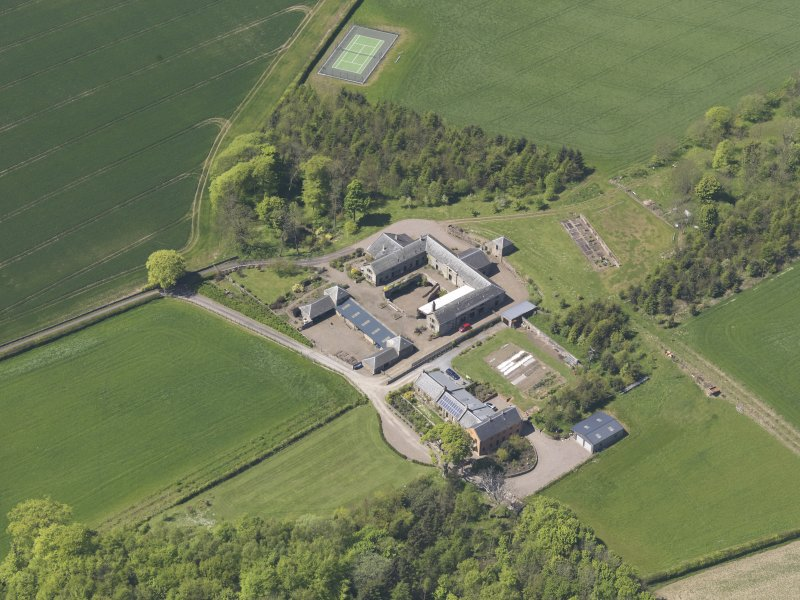 Oblique aerial view of Greenside Steading, taken from the ESE.