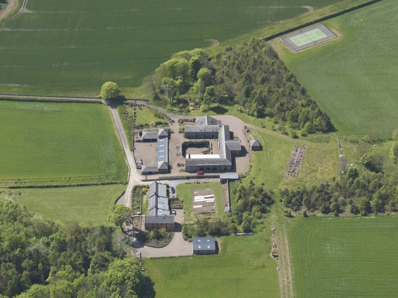 Oblique aerial view of Greenside Steading, taken from the E.