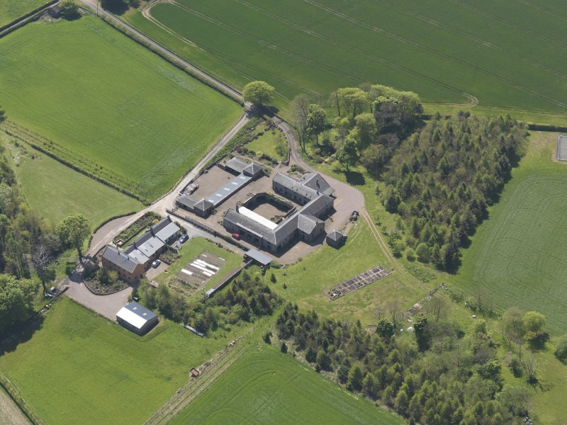Oblique aerial view of Greenside Steading, taken from the NE.