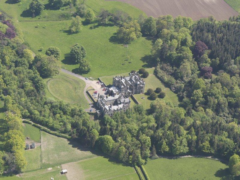 Oblique aerial view of the House of Falkland, taken from the NW.