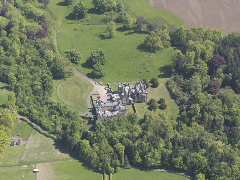 Oblique aerial view of House of Falkland, taken from the NNW.