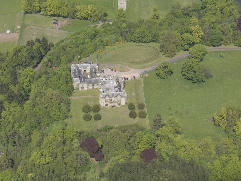 Oblique aerial view of House of Falkland, taken from the S.
