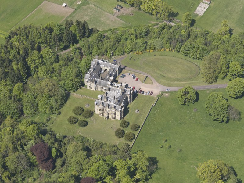 Oblique aerial view of House of Falkland, taken from the SSE.