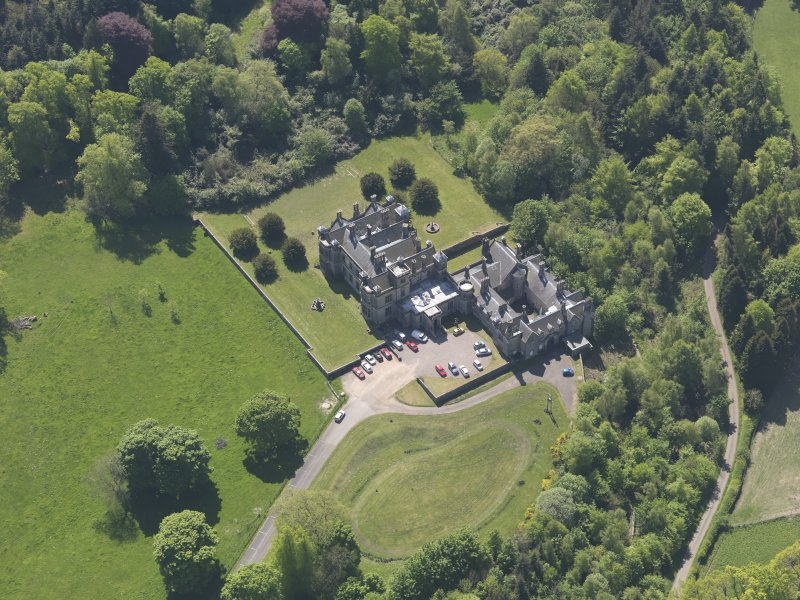Oblique aerial view of House of Falkland, taken from the NE.
