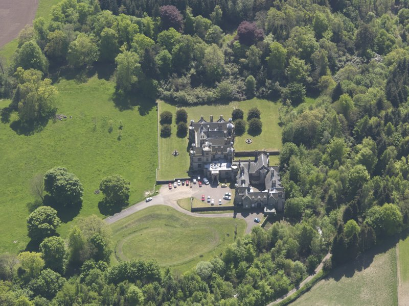 Oblique aerial view of House of Falkland, taken from the N.