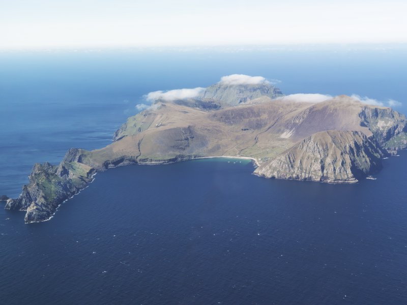 General oblique aerial view of St Kilda, taken from the E.