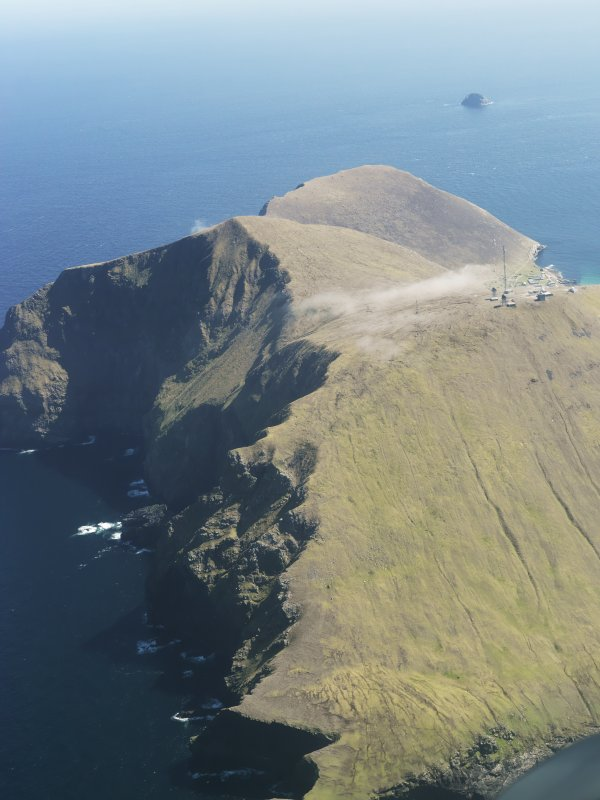 General oblique aerial view of St Kilda, centred on the island of Hirta, taken from the NW.