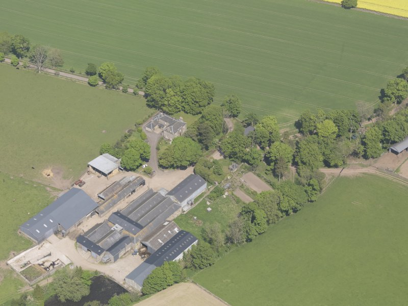 Oblique aerial view of Flemington Castle, taken from the SW.