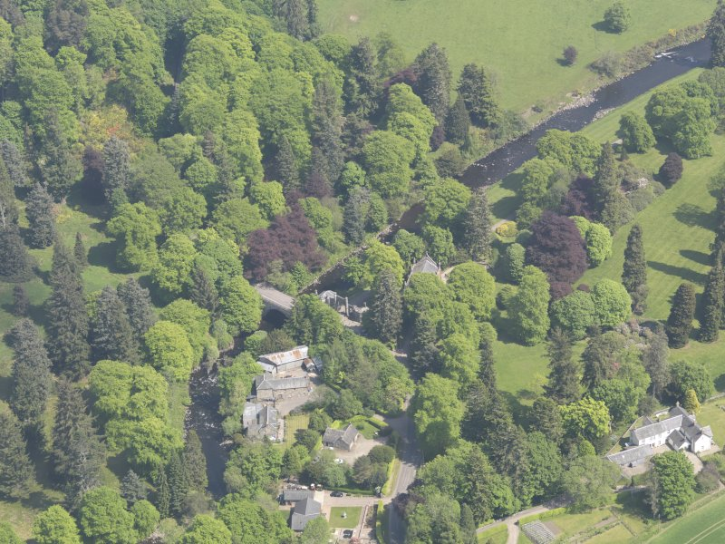 Oblique aerial view of Cortachy Bridge, taken from the WSW.