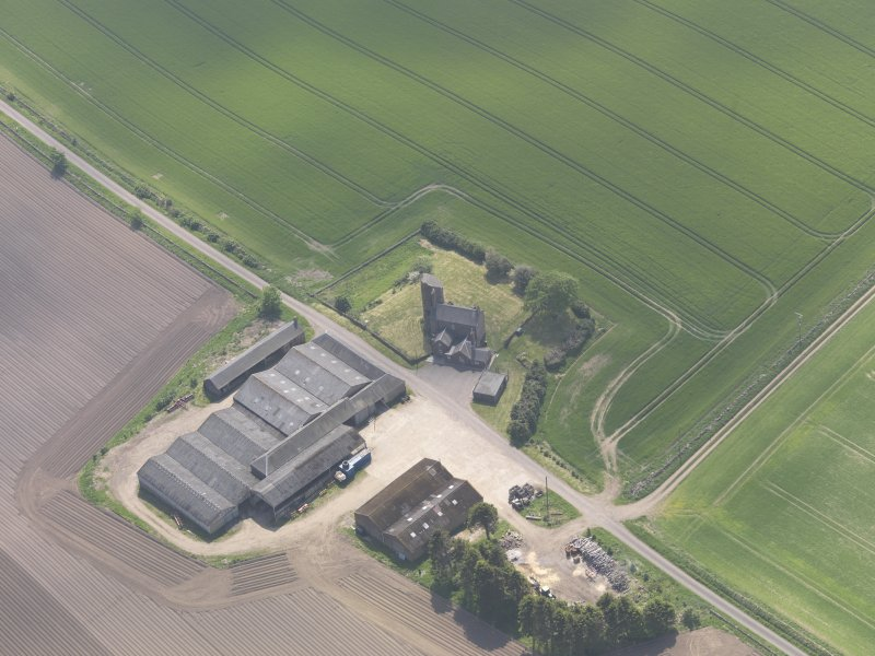 Oblique aerial view of Balfour Castle, taken from the NE.