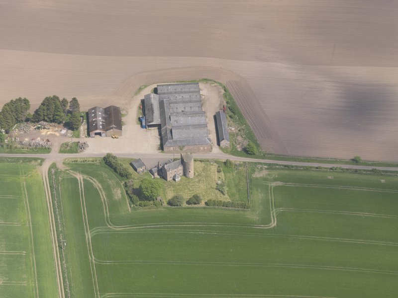 Oblique aerial view of Balfour Castle, taken from the SW.
