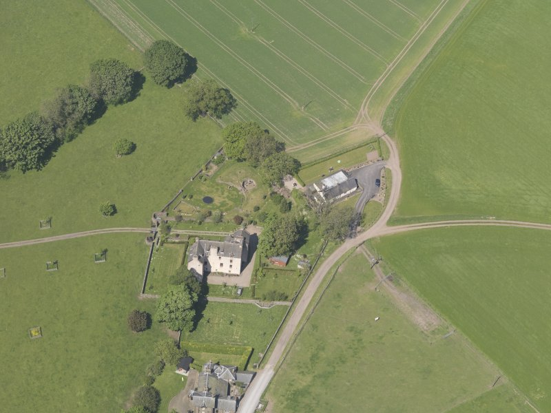 Oblique aerial view of Hatton Castle, taken from the S.