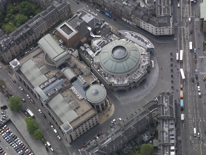 Oblique aerial view of the Usher Hall, taken from the N.