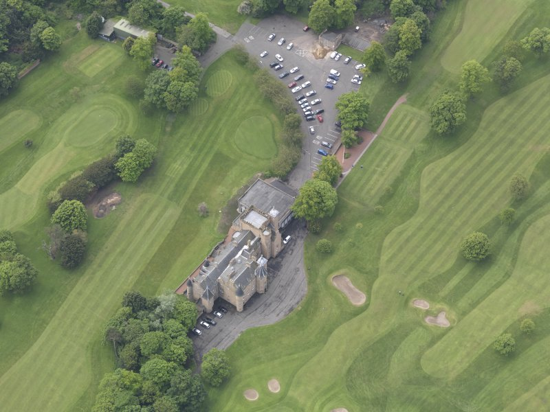 Oblique aerial view of Preston Grange Club House, taken from the NE.