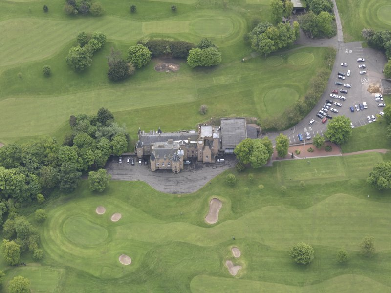 Oblique aerial view of Preston Grange Club House, taken from the NNW.
