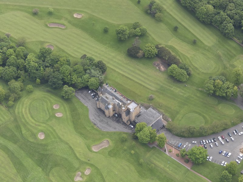 Oblique aerial view of Preston Grange Club House, taken from the W.