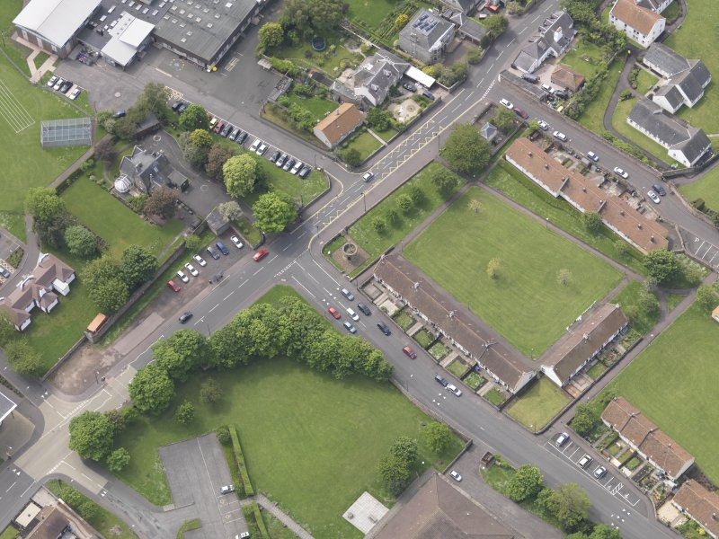 Oblique aerial view of Preston Market Cross, taken from the SE.