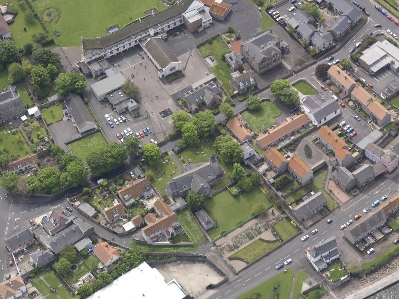 Oblique aerial view of Preston Grange Church, taken from the N.