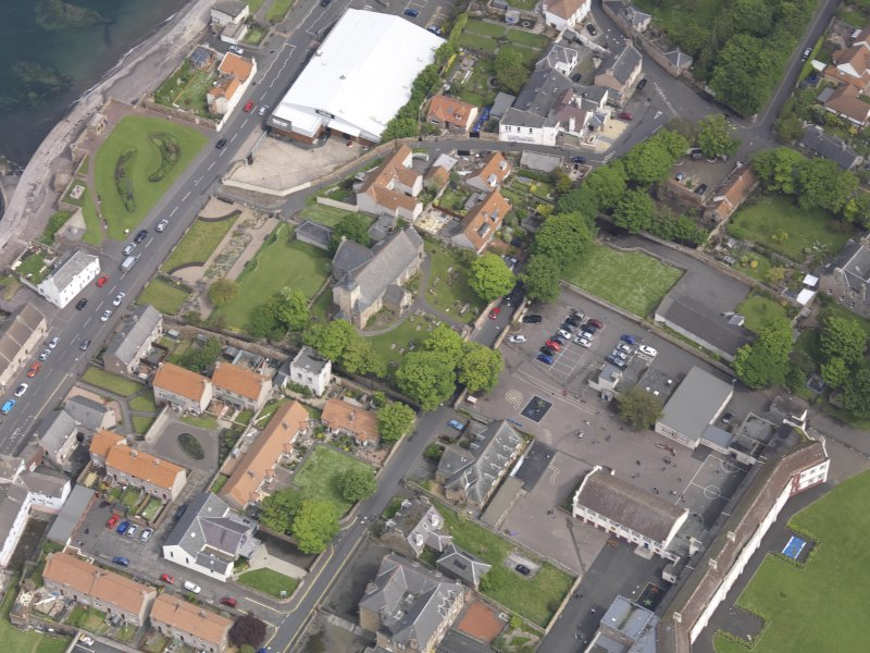 Oblique aerial view of Preston Grange Church, taken from the SW.