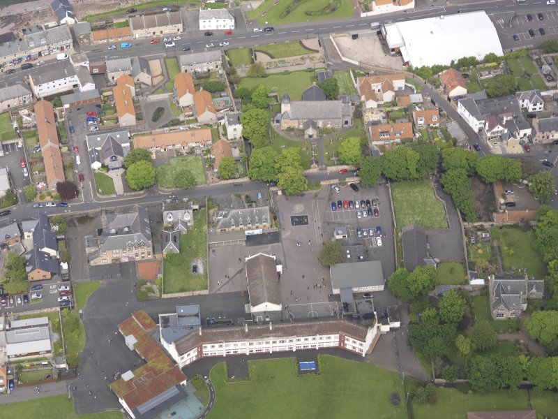 Oblique aerial view of Preston Grange Church, taken from the SSE.