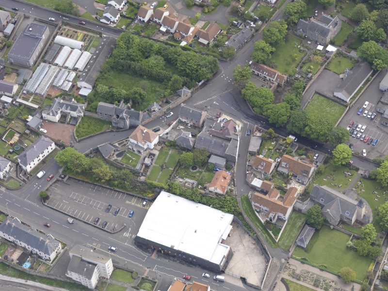 Oblique aerial view of Preston Grange Church, taken from the NW.
