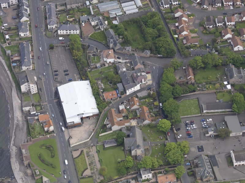 Oblique aerial view of Preston Grange Church, taken from the WSW.
