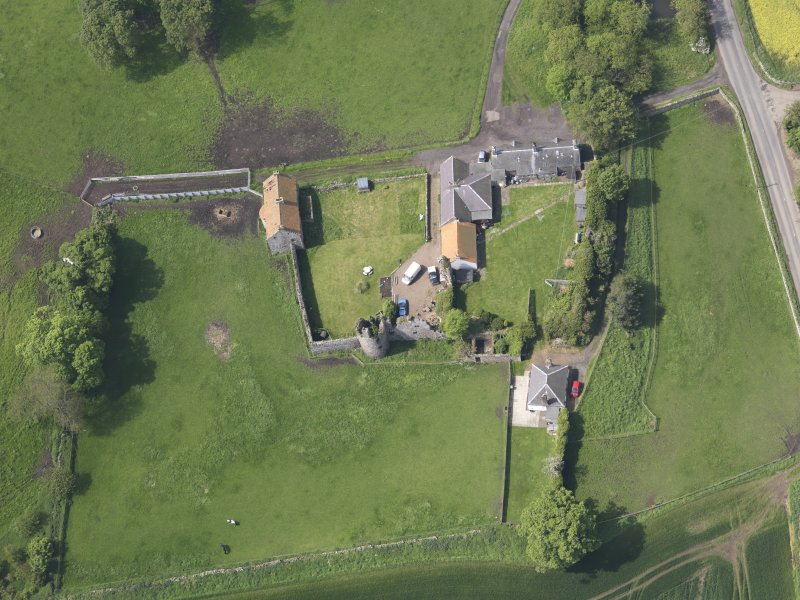 Oblique aerial view of Garleton Castle, taken from the E.