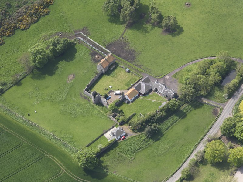 Oblique aerial view of Garleton Castle, taken from the NE.
