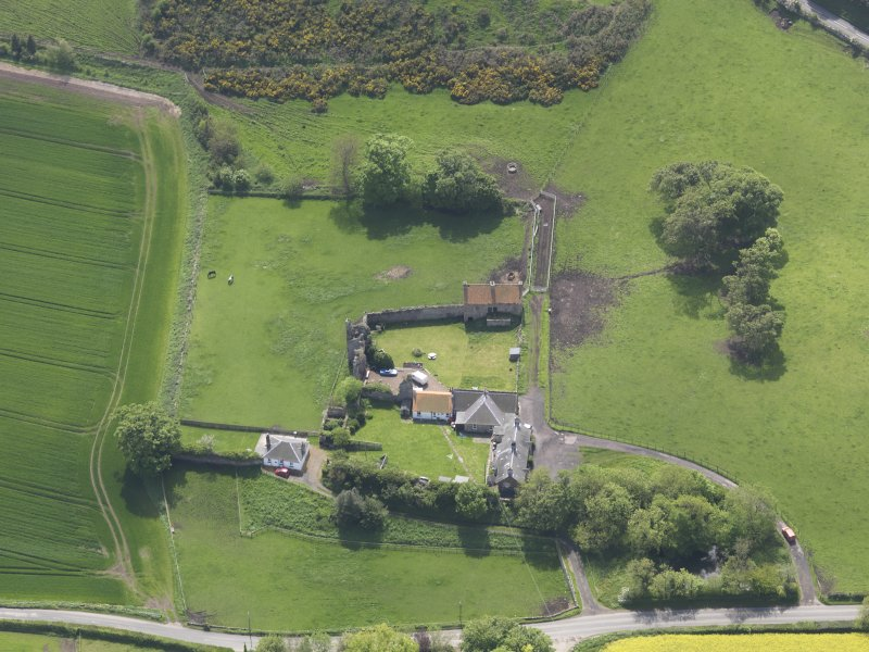 Oblique aerial view of Garleton Castle, taken from the N.