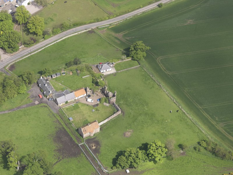 Oblique aerial view of Garleton Castle, taken from the SW.