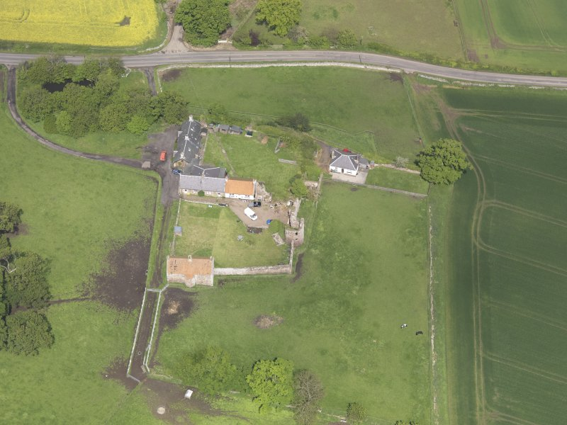 Oblique aerial view of Garleton Castle, taken from the S.
