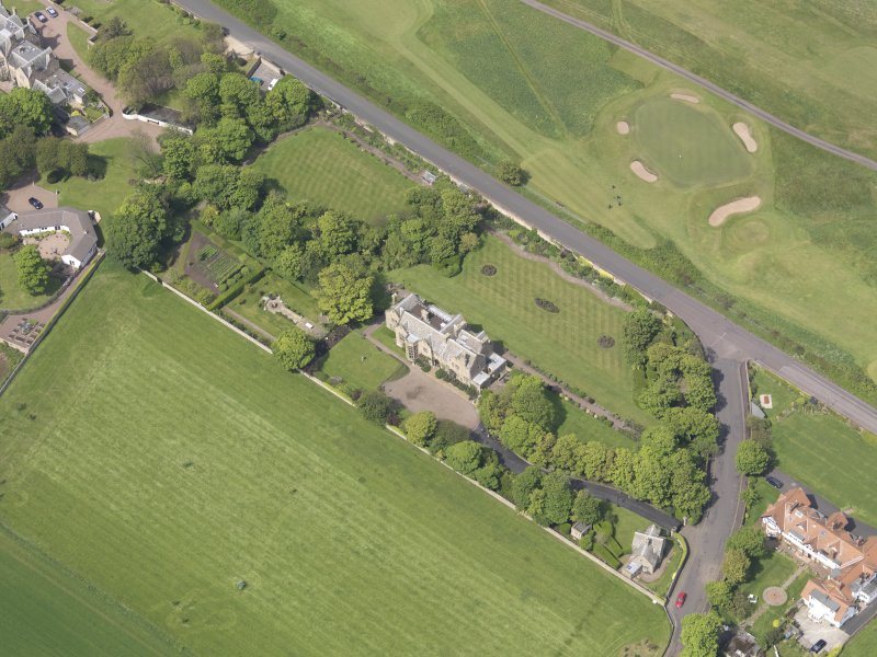 Oblique aerial view of Bunkerhill House, taken from the SE.