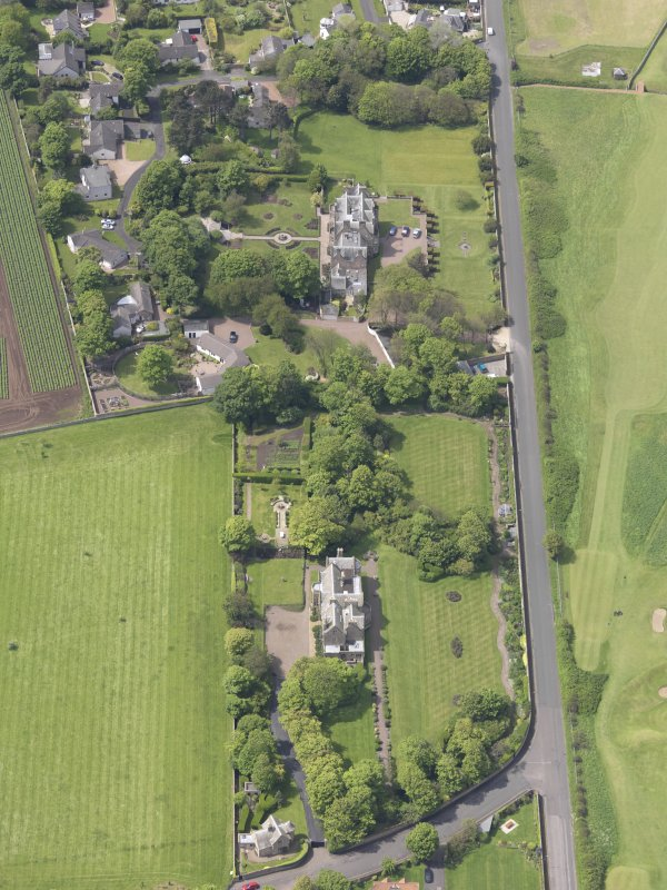Oblique aerial view of Bunkerhill House, taken from the E.