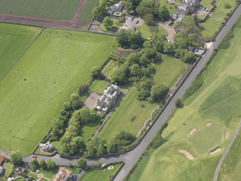 Oblique aerial view of Bunkerhill House, taken from the NE.