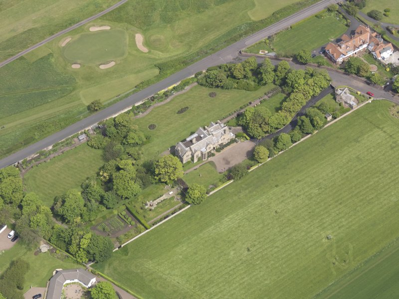 Oblique aerial view of Bunkerhill House, taken from the SW.