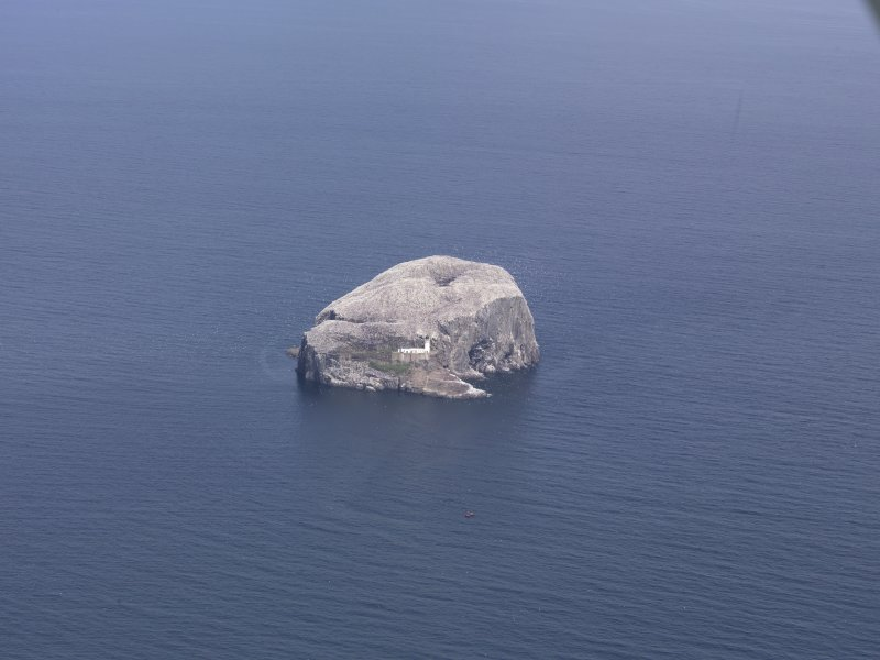 Oblique aerial view of the Bass Rock, taken from the SSE.