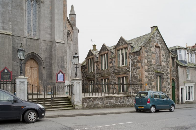 View of Trinity Church and Church Hall, 26 Castle Street, Rothesay, Bute, from NE