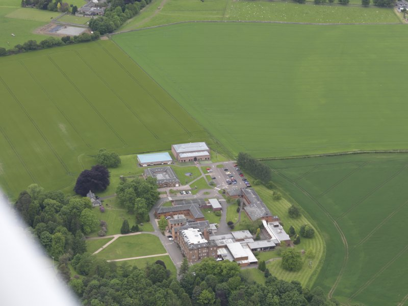 Oblique aerial view of Kilgraston House, taken from the ESE.