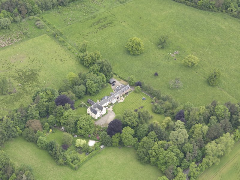 Oblique aerial view of Drummonie House, taken from the S.