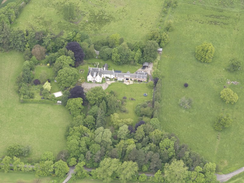 Oblique aerial view of Drummonie House, taken from the SSE.