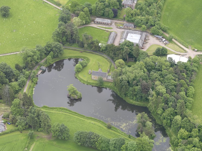 Oblique aerial view of Ecclesiamagirdle House, taken from the N.