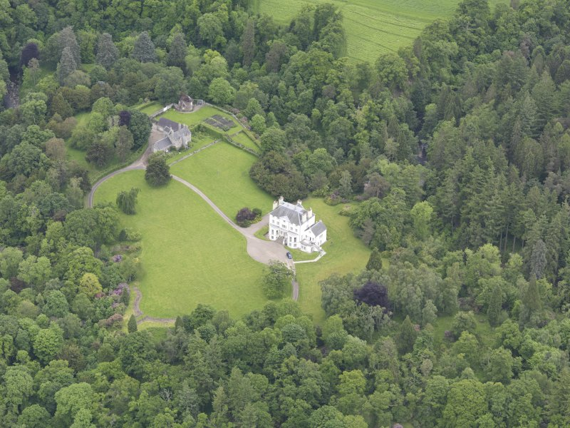 Oblique aerial view of Invermay House, taken from the SW.