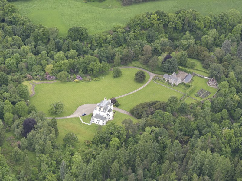 Oblique aerial view of Invermay House, taken from the SSE.