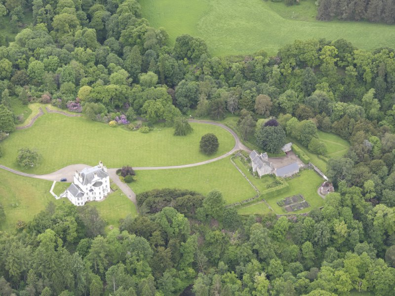 Oblique aerial view of Invermay House, taken from the SE.